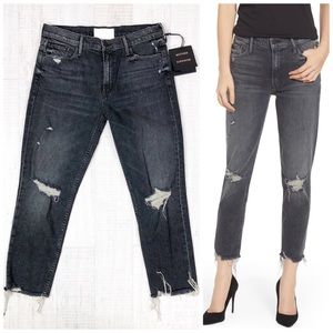 Mother Jeans The Sinner Chew Ripped Crop Size 29